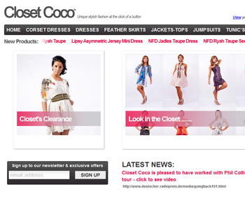 Closet Coco Featured Work - E-commerce Web Design Leeds